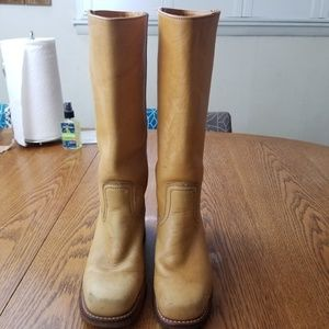 Frye Mid Calf Leather Boots SZ 7 GUC  BS-11